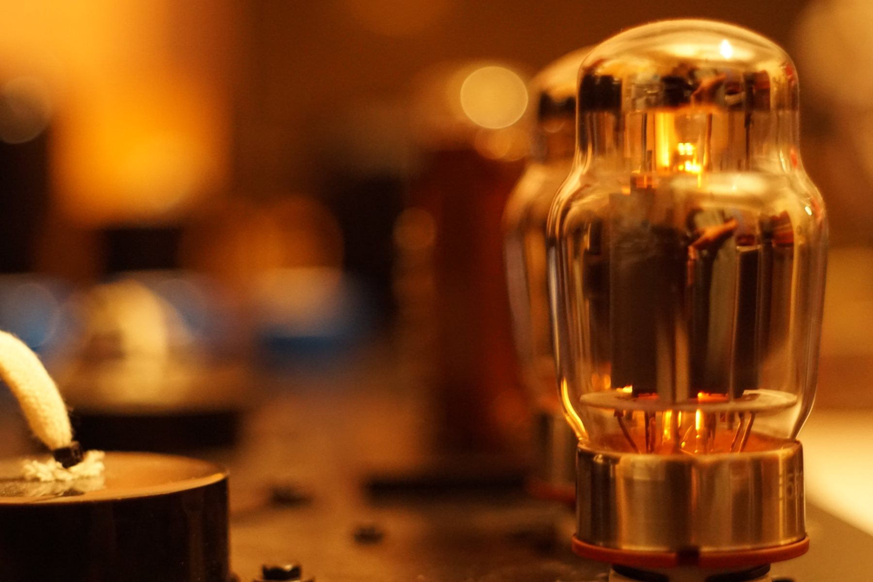 glowing vacuum tubes